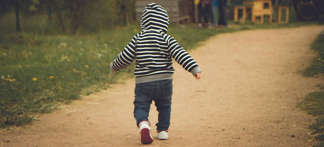 Child Walking On Path